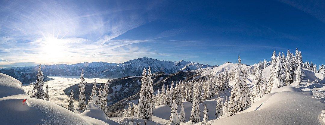 Winterwanderweg vom Sonnkogel zur Schmittenhöhe