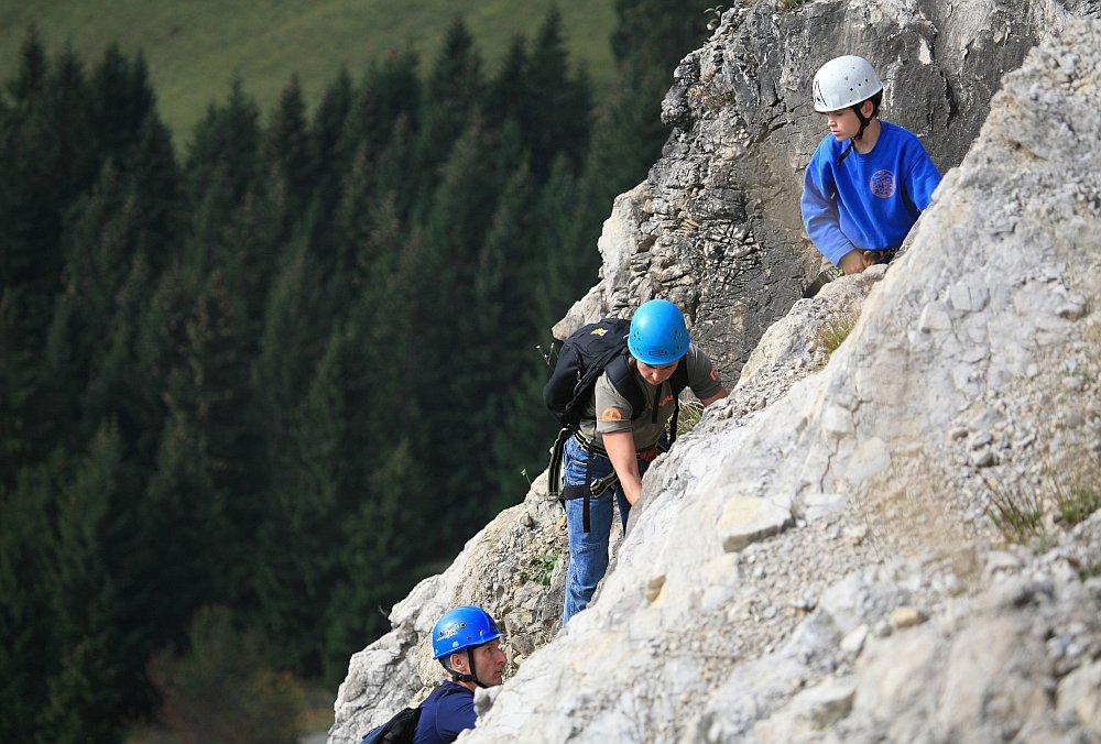 Ostrachtaler Klettersteig (Einstieg)